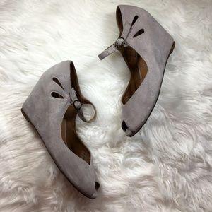 Jeffrey Campbell Regina Leather Wedges